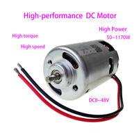 12V/24V/36V/48V High Speed DC Motor Dual Ball Bearing High Power 885/887 Motor