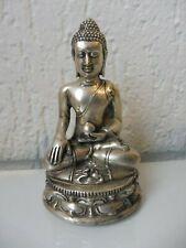Sehr schöne , alte  Metallfigur , Buddha  , versilbert !