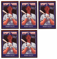 (5) 1992 Sports Cards #30 Robin Yount Baseball Card Lot Milwaukee Brewers