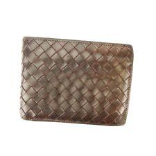 BOTTEGA VENETA two-fold wallet Intorechato leather Auth used D2157