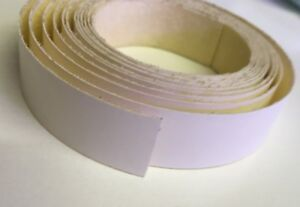 White iron on edging tape, 22mm and 50mm wide, 5 Metre Length Roll