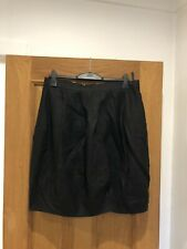 Gorgeous Women's CORA KEMPERMAN Black Linen Tulip Skirt Size XL