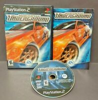 Need For Speed Underground Racing - Playstation 2 PS2 Game Rare Complete Tested`