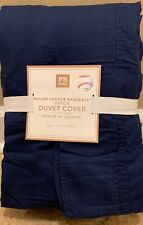 NEW Pottery Barn Teen MLB Patch TWIN Duvet - NAVY - NO Patch