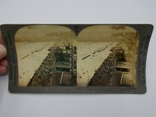 ANTIQUE STEREOSCOPE 3-D VIEWER PHOTO CARD ATLANTIC CITY BREAKERS BOARDWALK