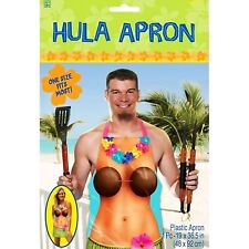 Adults Hawaiian Party Plastic Hula Girl Apron Cooking BBQ Pinny Hula Girl Stag