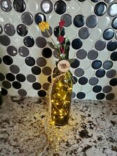 Handmade Decorative Wine Bottle with Lights/Wood Sign: Wine Not?