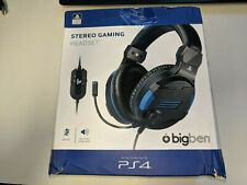 BIG BEN STEREO GAMING HEADSET MIC CONTROL * PLAYSTATION 4 PS4