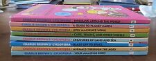 Lot 8 Charlie Brown's 'CYCLOPEDIA BOOKS 1 2 3 4 5 6 7 11 VGC Partial Set