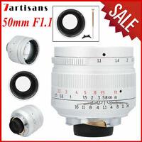 7artisans 50mm F1.1 Manual Focus Lens for Leica M Mount M3 M5 M6 M7 M8 Cameras