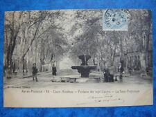 AIX-en-PROVENCE  :  Cours Mirabeau - Fontaine des Sept Canons.......VO.1904.