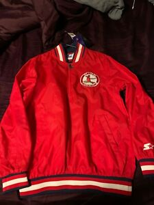 St. Louis Cardinals - STARTER Cooperstown Collection Pull over jacket SMALL NWT