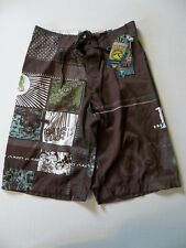 NWT RUSTY SIGNATURE BOARD SHORTS BROWN MEN'S SIZE 28 SURF STYLE HM 29980