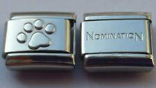 1x Cute Paw Print Italian Charm plus 1x Genuine Shiny Nomination Bracelet Link