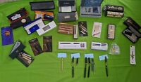 LOT Vintage Collectors Pens, Cases, Ink, Boxes. Different Named Brands (lot#321)