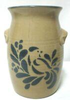 Pfaltzgraff Stoneware Folk Art Bird Vintage Utensil holder crock vase canister