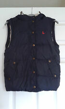 WOMANS NAVY JACK WILLS FLEECE LINED HOODED GILET UK SIZE 8