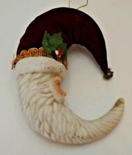 Crescent Fabric/Ceramic Christmas Ornament Beautiful