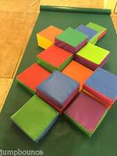 14 piece soft play blocks in bag 12 x 12 different heights