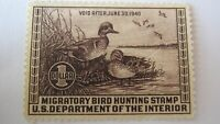 U S DUCK STAMP 1940 RW 6 MINT NG WELL CENTERED