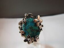 Genuine Sterling Silver Ring Authentic Turquoise Jewelry Marked 925 FD Thailand
