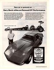 1968-1969-1970-1971-1972 CHEVROLET CORVETTE - GARY BECK TOP FUEL ~ PENNZOIL AD
