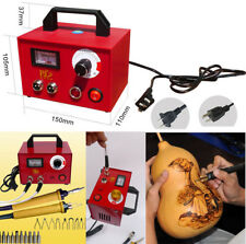 100W Pyrography Machine Gourd Wood Burning Pens Crafts Tools + 20PCS Accessories