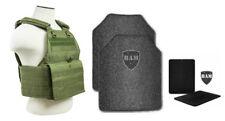 Body Armor | Bullet Proof Vest | AR500 Steel Plates Base Coat 10x12 6x6 OD GREEN