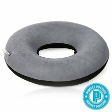 "Inflatable Donut Cushion with Pump 15"": #1 Doctor Recommended, NeverFlat CoolTec"