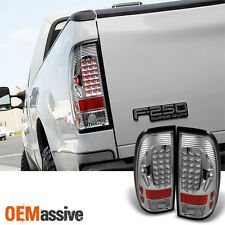 Fits 97-03 Ford F150 F250 Pickup Truck Clear LED Tail Lights Lamp Set Left+Right