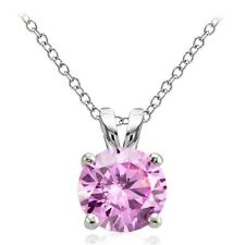 Cubic Zirconia Simulated Fine Gemstone Necklaces & Pendants