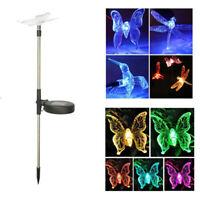 Butterfly Dragonfly Solar Power LED Light Outdoor Garden Lawn Lamp Decor LigBP