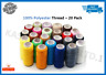 20 Spools/Colours Finest Quality Sewing All Purpose 100% Polyester Thread Reel