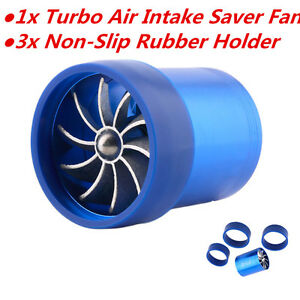 Car Engine Turbine Super Charger Air Intake Turbonator Single Fan Gas Fuel Saver