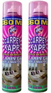 2 x Xanto Xapp Carpet & Sofa Stain Remover Mousse Cleaner 500ml