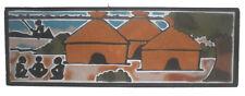 tableau de sable africain du sénégal scene de vie le village