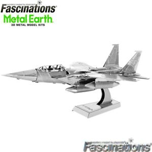 Metal Earth F-15 Eagle Military Aircraft 3D DIY Steel Model Hobby Building Kit