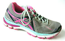 Asics GT 2000 3 Running Shoes Pink Aqua Gray Womens 6.5