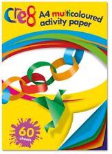Attività Multicolore Taglia 60 FOGLI A4 Carta Artigianale Decorazione Festa della Scuola