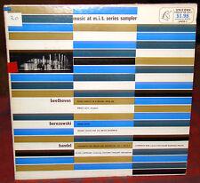 Music at M.I.T. Series Sampler: Beethoven, Berezowski, Handel Unicorn LP UNSR-1