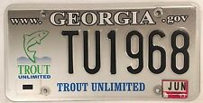 GA WILDLIFE TROUT license plate Fish Fishing River Fly Wildlife Fisherman Reel