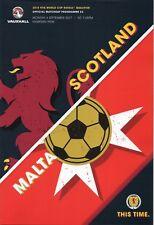 Programme : Scotland v Malta - World Cup Group F Qualifier - 04 September 2017