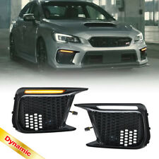 Switchback LED DRL Dynamic Turn Signal Bezel Assy for 2018-2020 Subaru WRX STi