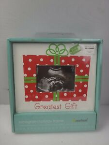 "Pearhead Greatest Gift ""Special Delivery"" Sonogram Holiday Frame NIB (2 pcs) New"
