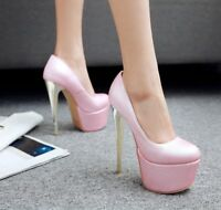Womens Sexy Stiletto High Heels Platform Pumps Wedding Party Shoes UK Size 1-12