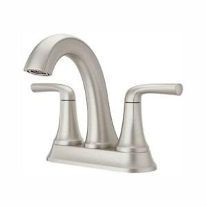 Pfister Ladera 4 in. Centerset 2-Handle Bathroom Faucet Brushed Nickel