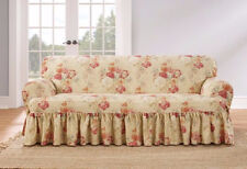 Sofa Blush Sure Fit Ballad Bouquet One Piece T-cushion slip cover slipcover