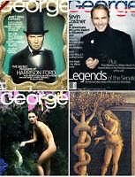 Lot Of 3 John JFK Kennedy JR George Magazines 1997 Kate Moss As Eve & MORE NM