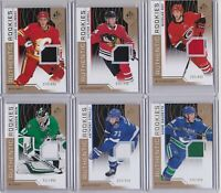 18-19 SP Game Used Adam Gaudette /499 Rookie Jersey GOLD Canucks 2018