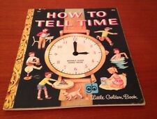 How To Tell Time Little Golden Book Good Condition 1974 Vintage Graphics